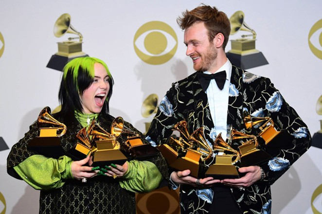 Billie Eilish with her brother at the 2020 Grammy Awards. - COURTESY AMBER CLAES / FLICKR