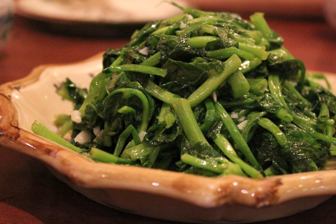 Pea greens. Yum. Gardeners who mind their peas and qs can have a bountiful harvest. - SEYLON CHEN / FLICKR