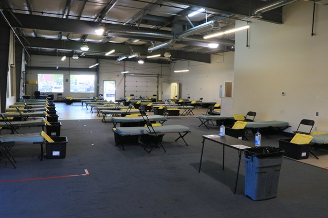 The main room at the new permanent shelter for Shepherd's House. Previously it had strictly been a warming center for the colder months, but now is open year-round. - JACK HARVEL