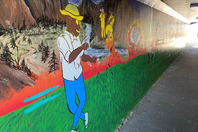 """""""It's our stamp on Bend,"""" said one local stakeholder for Proyecto Mural, seen here in its unfinished form. - NICOLE VULCAN"""