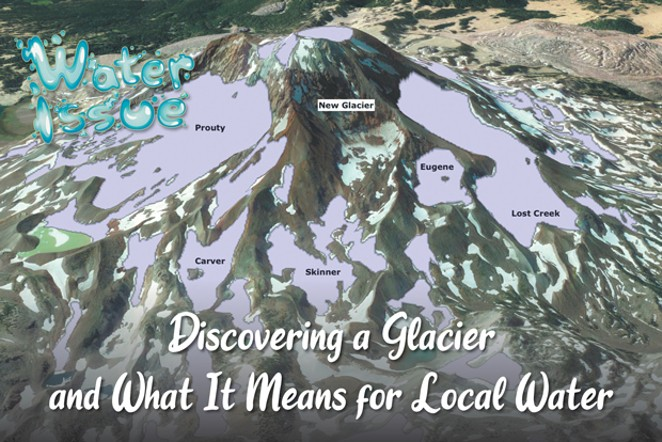 This map shows the location of various glaciers on the South Sister. - COURTESY OREGON GLACIERS INSTITUTE