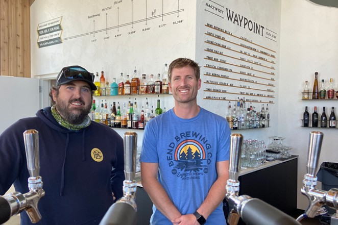 Brewmaster Zach Beckwith, left, and co-owner Packy Deenihan at the new spot in Northwest Crossing. - BRIAN YAEGER