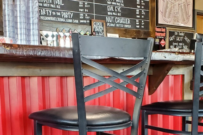 Cozy up to the bar inside Wild Ride Brewing. - SUBMITTED