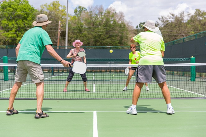 Folks of all ages have discovered the fun of pickleball. - COURTESY WIKIMEDIA COMMONS