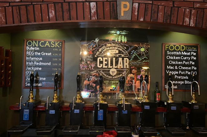 Go underground in downtown Bend and sip from these hand pumps at Porter Brewing. - BRIAN YEAGER
