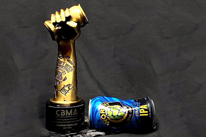 Worthy Brewing crushed it for a gold award. - COURTESY CRAFT BEER MARKETING AWARDS
