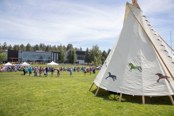 COCC's 2018 Salmon Bake event. - COURTESY COCC