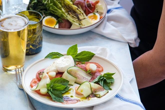Terra's Mediterranean-inspired menu includes a Melon Caprese, featuring burrata cheese, melons, Persian cucumbers and more. - COURTESY SCP REDMOND