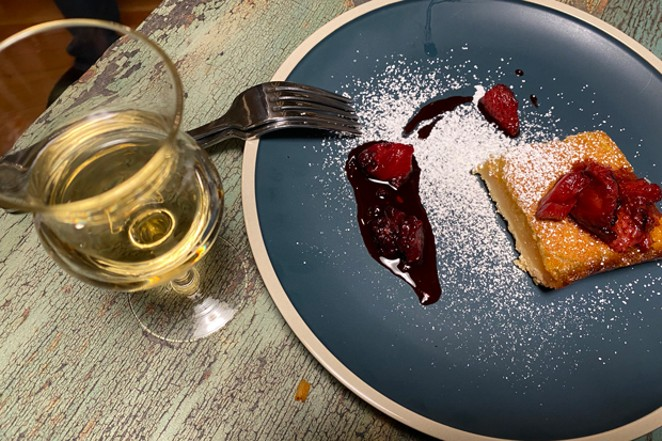 Dessert wine adds to the experience at Terra. - COURTESY SCP REDMOND