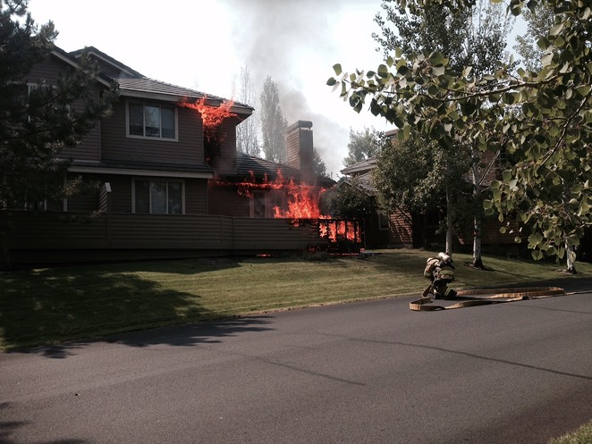 PHOTO BY A BROKEN TOP SECURITY GUARD, SUBMITTED BY BEND FIRE