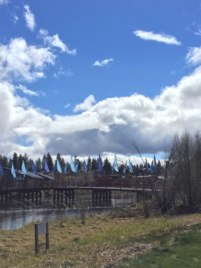 Partly sunny skies in Bend on April 20, 2017. - LEIGHA THRELKELD