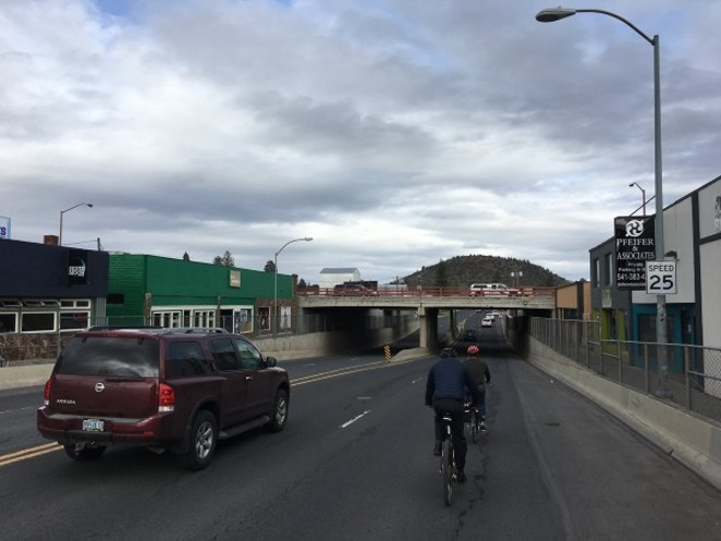 Councilor Abernethy cycling with Bend Bikes to see the current cycling infrastructure in Bend. - BENDBIKES.ORG