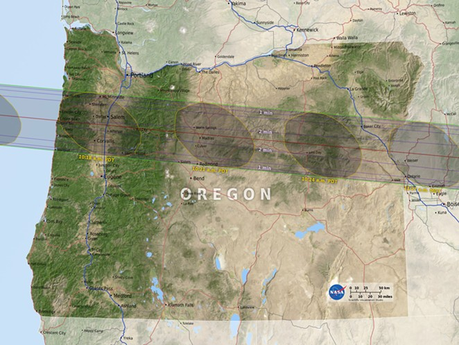2017 Eclipse Oregon Map NASA's Eclipse Path Map | Bent