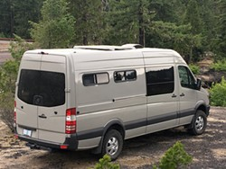 This sweet ride/home has plenty of interior sweet spots as well for those willing to live on wheels. - ACTION VAN