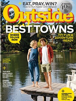 Outside magazine July 2017 cover with Bend, Oregon on cover - OUTSIDE MAGAZINE