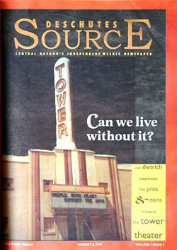 THE FIRST ISSUE OF THE SOURCE FEATURED THE ICONIC TOWER THEATRE ON OUR COVER.