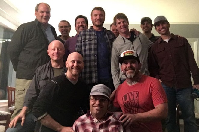 """These guys were getting real around the topic """"Using Personal Fear as a Tool for Success,"""" a discussion moderated by Man Camp presenter Todd Cover. P - PHOTO COURTESY OF TODD COVER."""