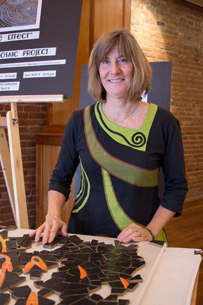 Local artist Rochelle Schueler of Wild Rose Artworks - KEELY DAMARA