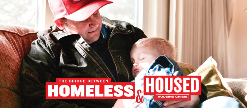 """""""Oh it's everything to have him here. Everything."""" Father, Chip cradles his young son Beau as he recounts his struggles with heroin and alcohol addiction. - MAGDALENA BOKOWA"""