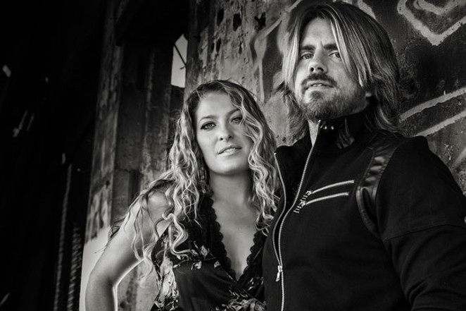 Rachel and Chad Hamar of Cloverdayle play at the Volcanic Theatre Pub, December 6. - RANDALL HAMAR