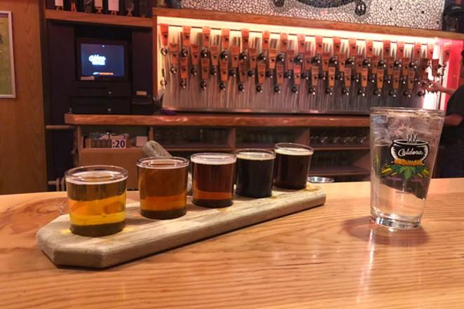 A flight of Caldera beer is mighty tasty - SOURCE STAFF