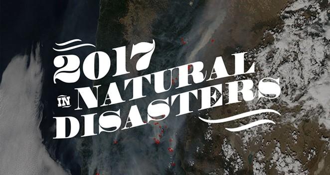 Satellite photography over Oregon on August 30, 2017 - NASA