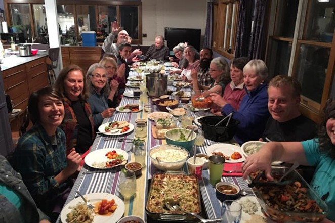 The theme for Saturday Supper was the letter S, for Sue Sant who was celebrating her 75th birthday. - LISA SIPE