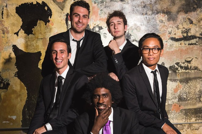 The Lique, fronted by emcee Rasar Amani, center, brings their hip-hop-meets-jazz sound to McMenamins Old St. Francis on 1/17. - SUBMITTED.