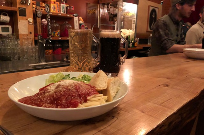 Come hungry, the pasta is all you can eat and the drinks are filled to the boot. - LISA SIPE