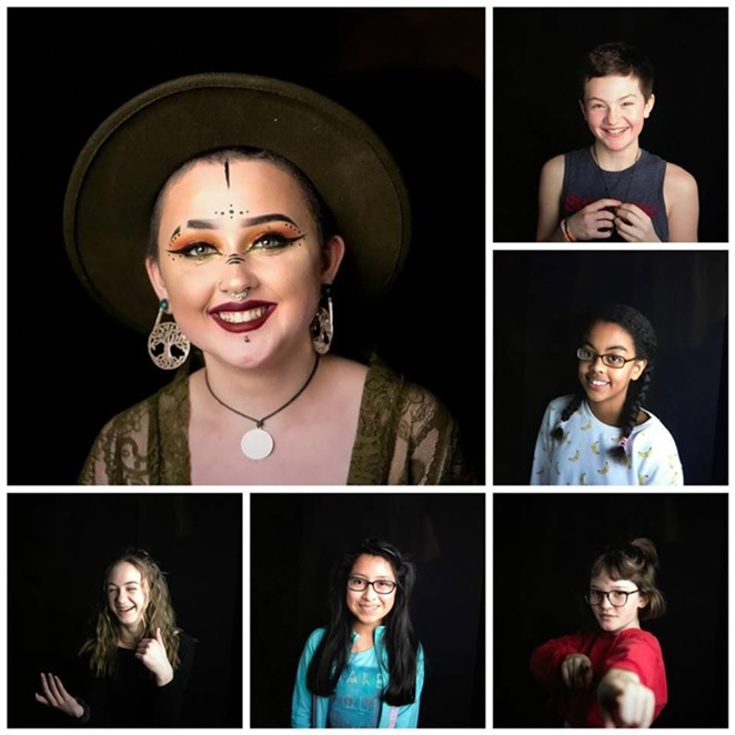 Selections from Teen Muse Project, on display at The Muse Hub on Friday. - ELSE KERKMANN