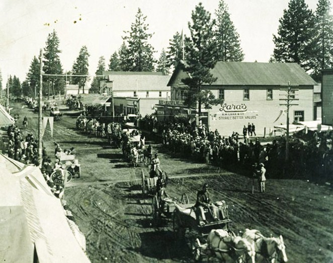 These images show a bustling Bend in its early days. - DESCHUTES COUNTY HISTORICAL SOCIETY