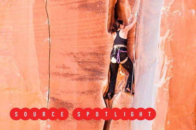 Almine Barton climbing on a crag. - SUBMITTED