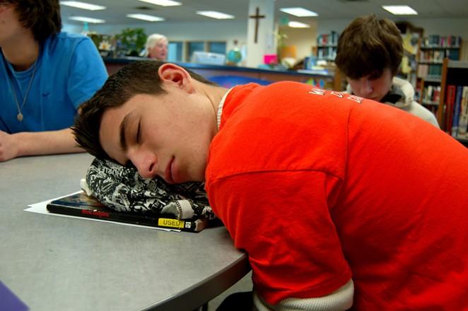 Sleeping in school. - FLICKR