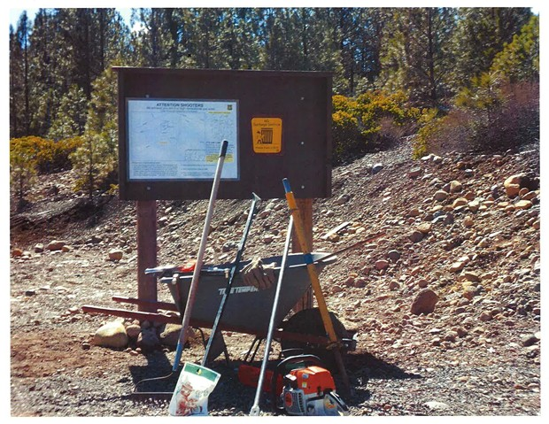 A sign to educate shooters in the area - SISTERS RANGER DISTRICT