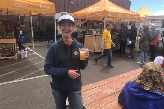 Humm's Michelle Mitchell welcomes one and all to the renovated taproom in NE Bend. - SUBMITTED