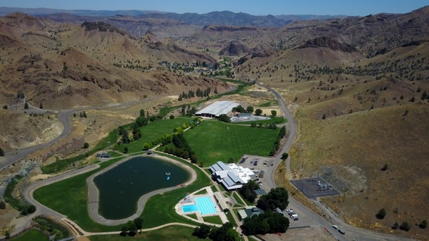 Aerial view of the compound. - TIM WEHDE CENTRAL OREGON DAILY