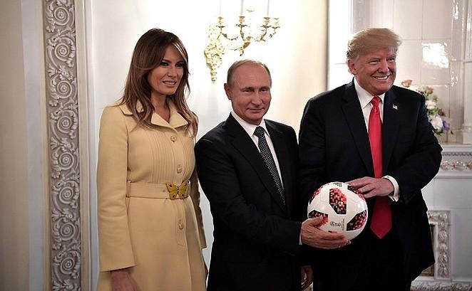 Melania Trump, Vladimir Putin and President Trump in Helsinki, Finland. - EN.KREMLIN.RU