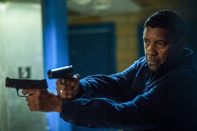 Denzel doesn't need two guns, but he will use two guns. - GLEN WILSON