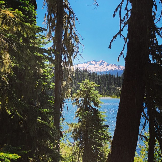Diamond Peak over Lower Marilyn Lake. - NICOLE VULCAN