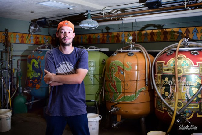 McMenamins' Vance Wirtz at the basement brewhouse. - CINDY CADDELL
