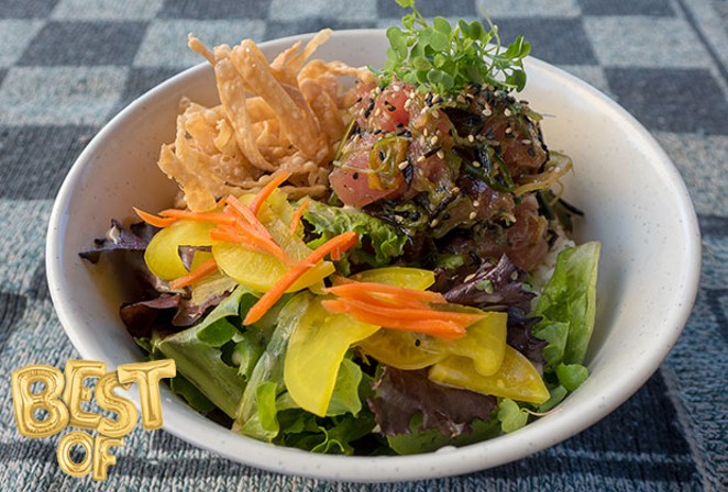 Poke tuna bowl. - CHRIS MILLER
