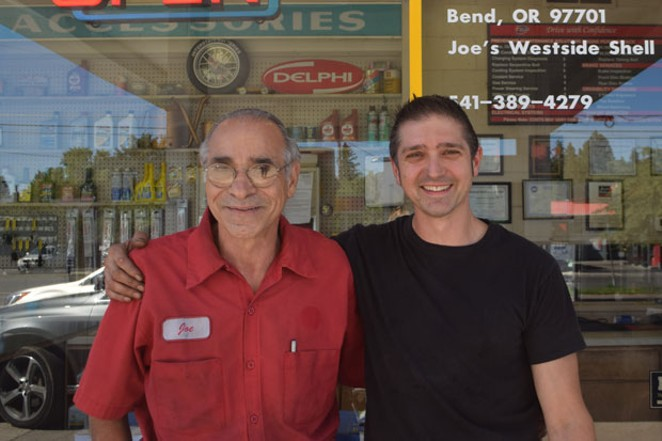 Joe Palmeri has run Joe's Garage at the Westside Shell for 33 years, now working alongside his son, also named Joe. - JACLYN BRANDT
