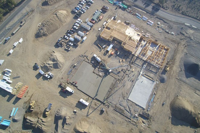 An aerial view of the new elementary school set to open fall 2019. - BEND-LA PINE SCHOOLS