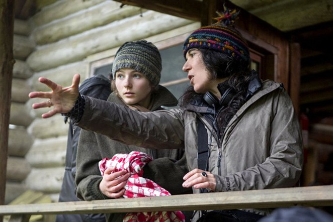 "Debra Granik directs Tomasin McKenzie in ""Leave No Trace."" - SUBMITTED"