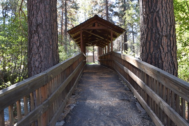 The bridge over Whychus Creek in Sisters will become ADA compliant with the new project. - JACLYN BRANDT