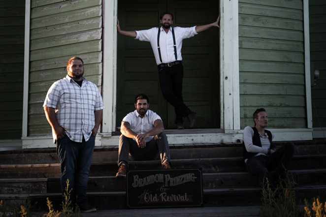 Brandon Prinzing steps into the spotlight to lead folk-meets-punk rockers Brandon Prinzing and the Old Revival. - SUBMITTED.