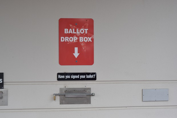The drop box at the Deschutes County Clerk's office. - JACLYN BRANDT