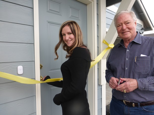 A ribbon cutting at a past Habitat for Humanity home. - HABITAT FOR HUMANITY OF LA PINE-SUNRIVER