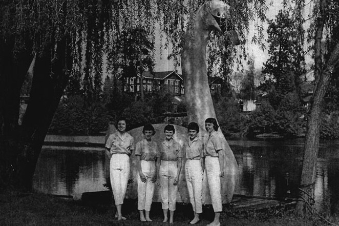 The 1959 Water Pageant Royal Court. - DESCHUTES COUNTY HISTORICAL SOCIETY