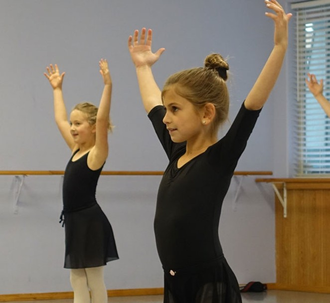 Students from Bend's Terpsichorean Dance Studio will wear costumes shipped from Moscow for their performance with the Moscow Ballet Sunday. - ELIZABETH WARNIMONT